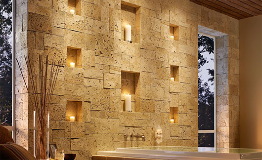 Interior Wall Design Artistic Stone Wall Decors ...